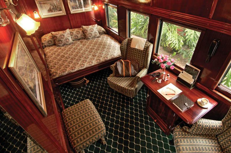 Suite Royale du Train Rovos avec grand lit double