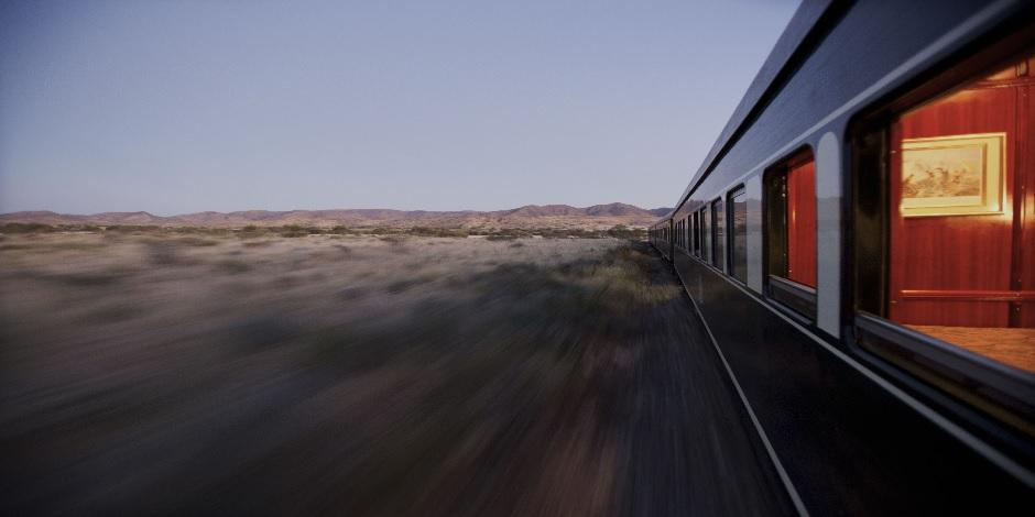 Train Rovos dans le cadre du circuit en Namibie