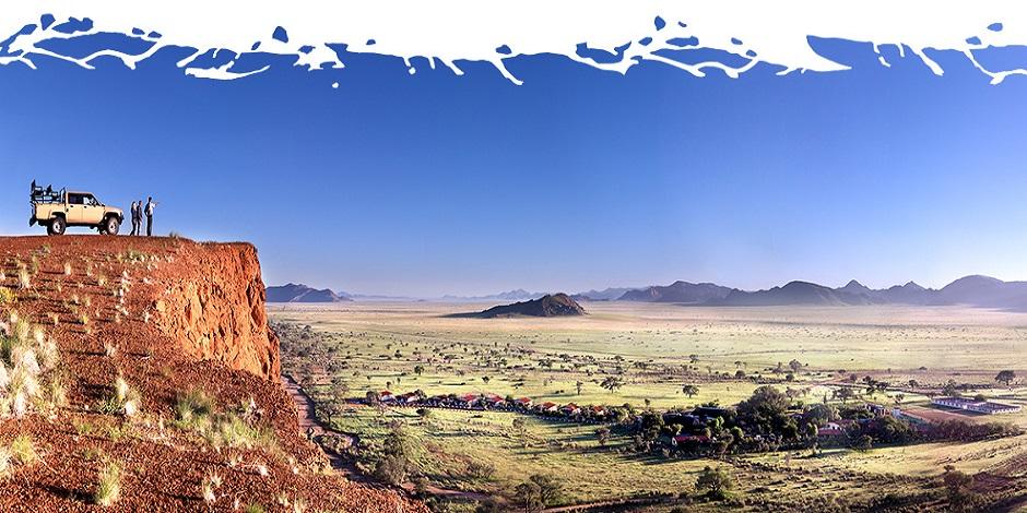 Vue sur la Namibie