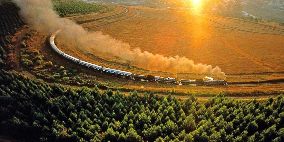 Train Rovos dans la campagne