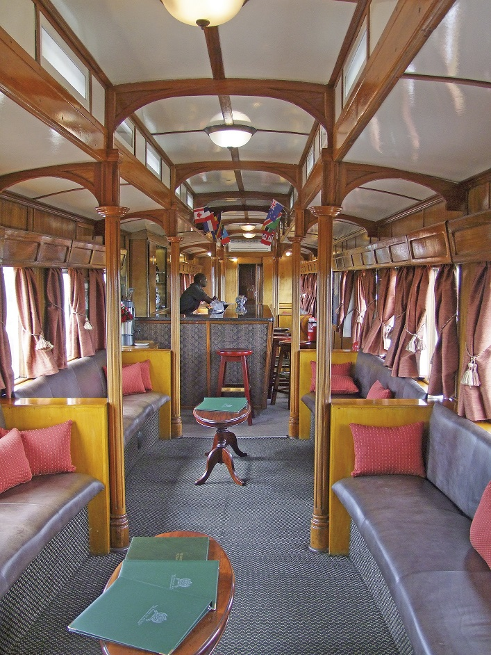 Voiture bar du Train African Explorer