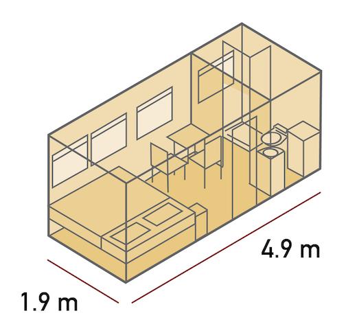 Plan des cabines doubles