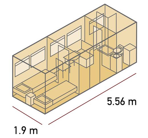 Plan des cabines Twins