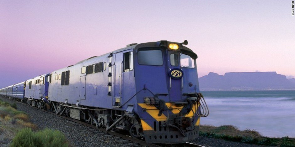 Train Bleu près de Cape Town