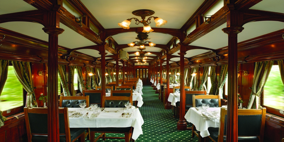 Voiture restaurant du Train Rovos