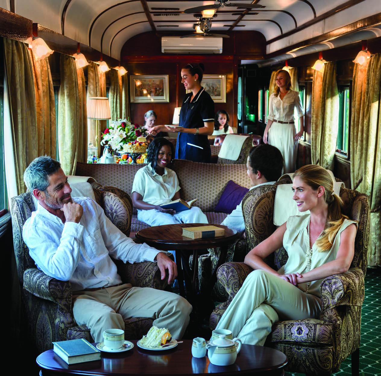Voiture salon du Train Rovos en Afrique du Sud