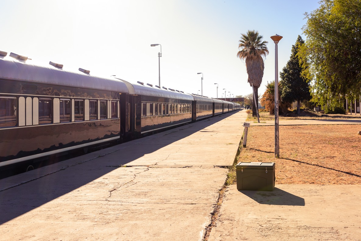 Train Shongololo Express en Namibie