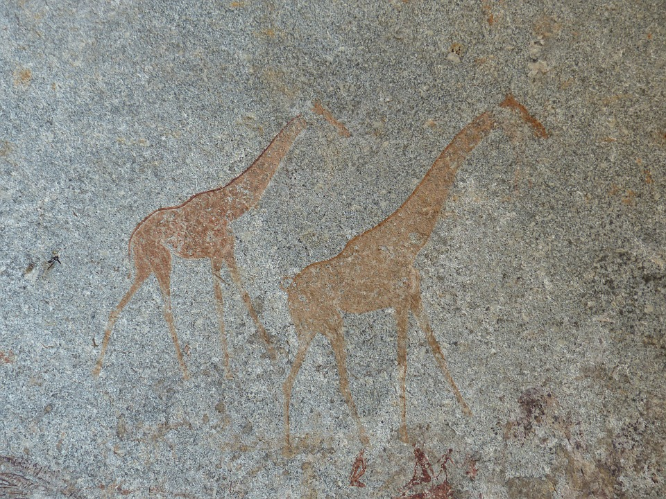 Peintures rupestres dans les grottes